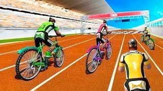 BMX Bicycle Racing Simulator - Gameplay Android game - Cycle racing championship