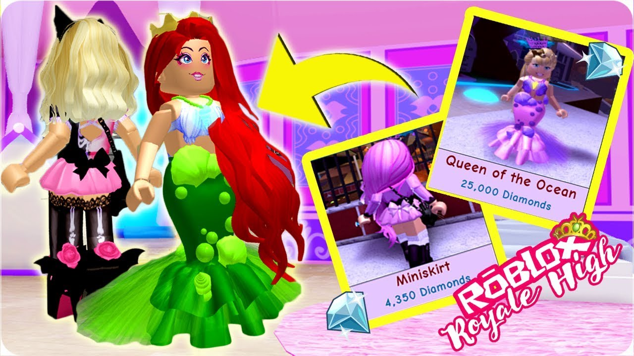 New Queen Of The Ocean Skirt And Miniskirt In Royale High