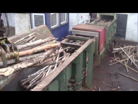Wood chipping in Randers, Denmark.