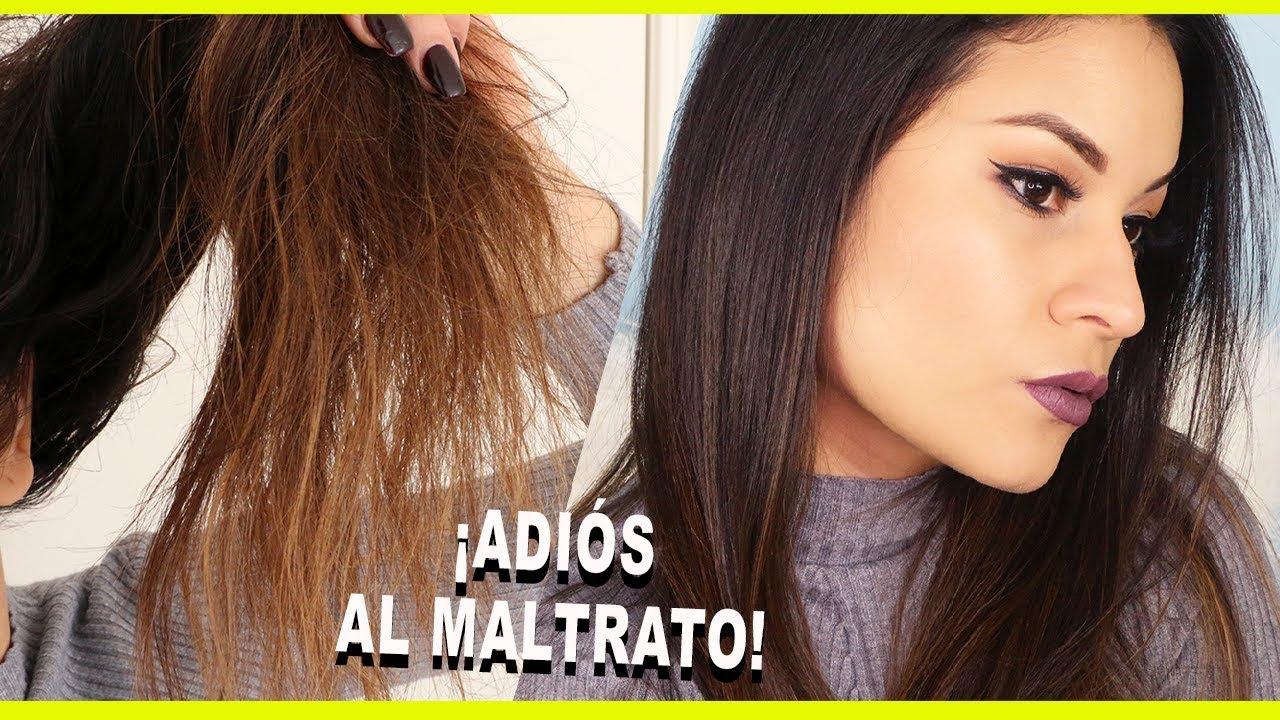 tratamiento casero para hidratar el cabello seco y maltratado