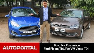 Ford Fiesta TDCi vs Volkswagen Vento TDI Comparsion Review - Autoportal