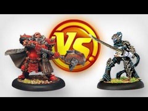 Khador Vs Everblight: Warmahordes Battle Report Begins!