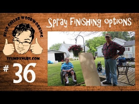 Spraying w/ Harbor Freight, Earlex 5500, Graco TrueCoat Pro Cordless-Stumpy Nubs Woodworking  36