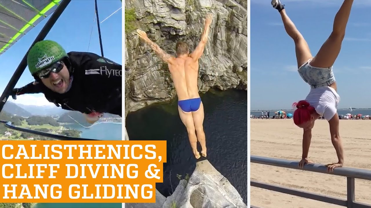 TOP FIVE: Calisthenics, Cliff Diving & Hang Gliding | PEOPLE ARE AWESOME 2016