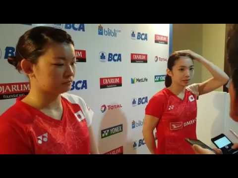 Misaki Matsutomo and Ayaka Takahashi Press Conference in First Round of Indonesia Open 2017