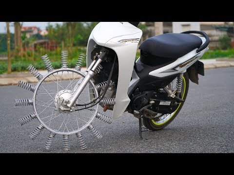 NTN - Ride a motorcycle with spring on wheels
