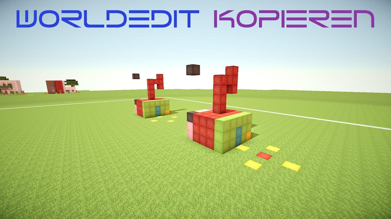 WorldEdit Kopieren Drehen Spiegeln Einfügen Guide Minecraft - Hauser in minecraft einfugen