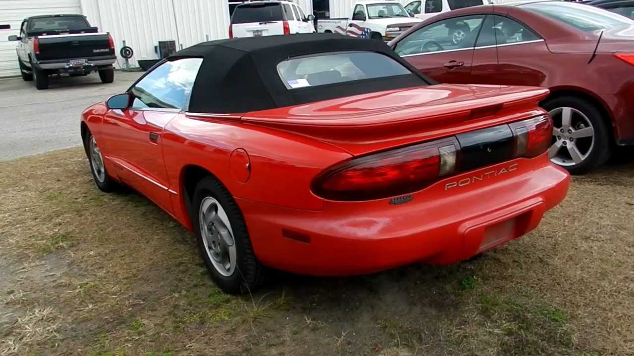 1995 pontiac firebird convertible for sale at marchant chevy in ravenel sc youtube