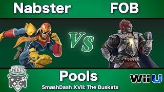 Smashdash Xvii - Nabster  Captain Falcon  Vs. Fob  Ganondorf  - Pools