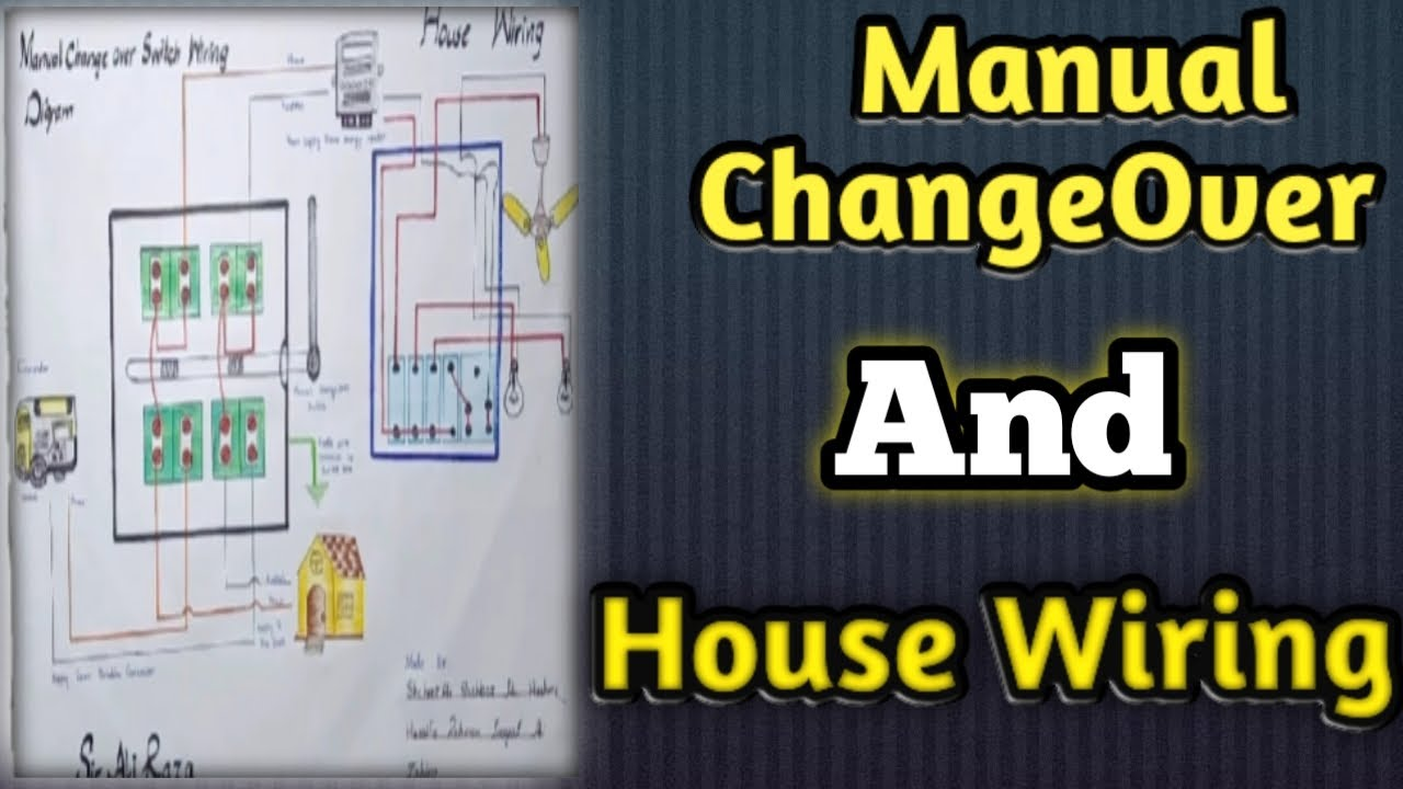 Manual Change Over And House Wiring Connection With