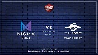 Nigma vs Team Secret | DreamLeague S13 Closed Qual | Best of 3 | Caster: EG