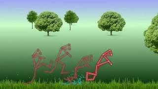 Neuroevolution 2D yaratıklar bazı yeni görev Basit NN öğrenin