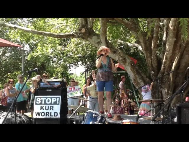 RALLY AGAINST KUR-WORLD KURANDA 26 MAR 2017 - Margaret Pestorius