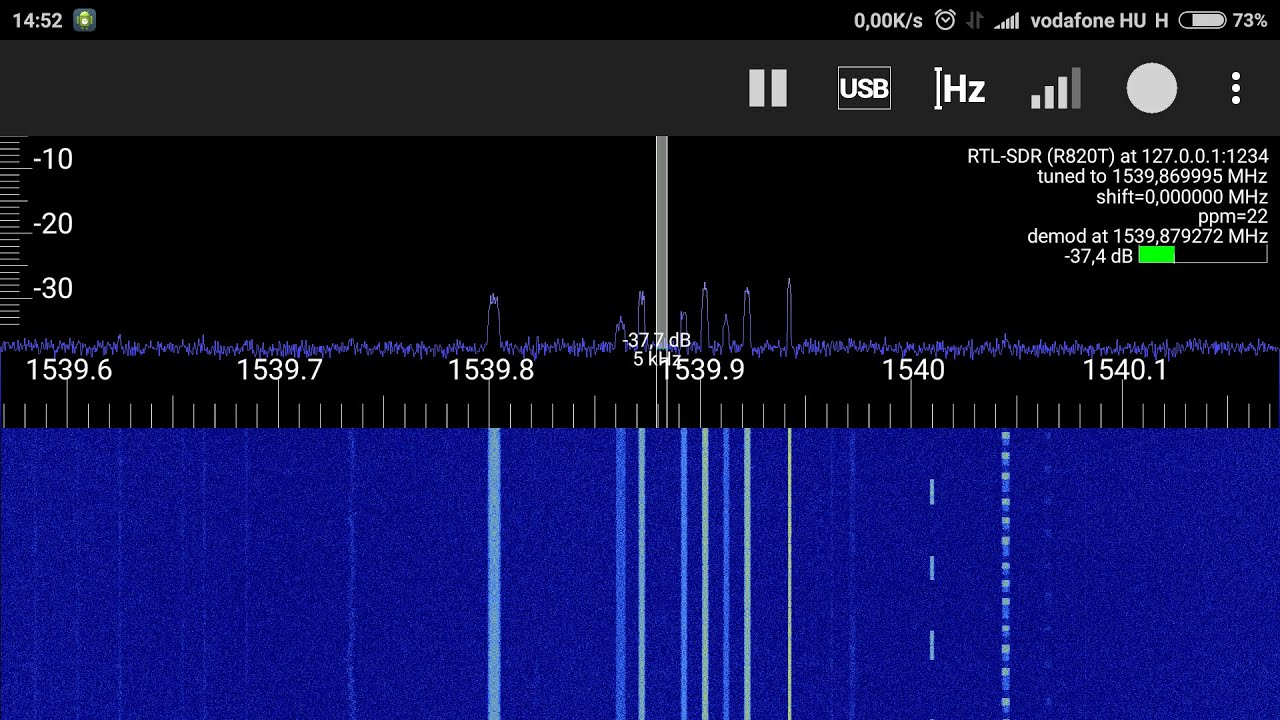 Outernet signal reception with RTL-SDR + LNA on Android phone