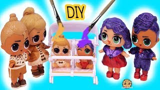 DIY Makeover LOL Surprise Lil Sisters Peanut Butter & Jelly Craft Painting Video