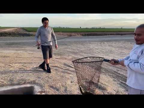 "FISHING In SMALL CANALS In CALIFORNIA'S LOW DESERT 2020 ""Stop&Drop""(IMPERIAL VALLEY) -112ft SeaLevel"