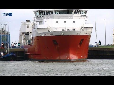 MV Elektron Multipurpose Vessel  vertrokken uit Vlissingen