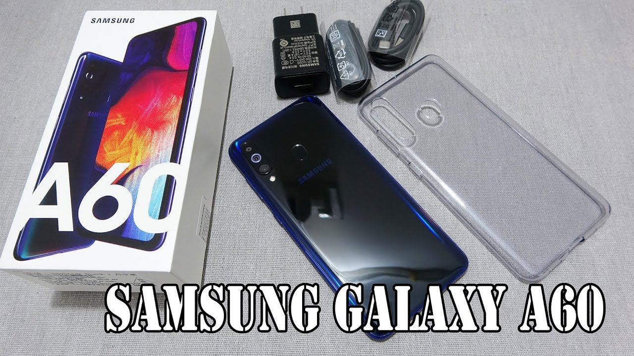 Samsung Galaxy A60 Daybreak Black color unboxing | camera, fingerprint, face unlock tested