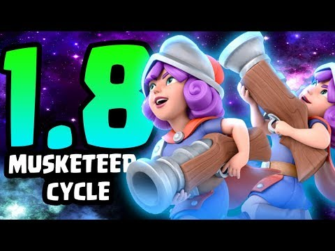 INSANE 1.8 ELIXIR MUSKETEER CYCLE DECK! FASTEST MUSKETEER DECK EVER!   Clash Royale