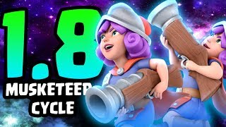 INSANE 1.8 ELIXIR MUSKETEER CYCLE DECK! FASTEST MUSKETEER DECK EVER! | Clash Royale