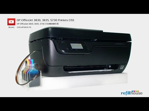 HP Officejet 3830, 3835,  CISS - HP 63, 302, 123, 803; HP 664, 680, 652; HP 46