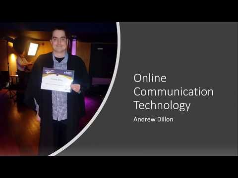 Online Communication Technology Presentation PowerPoint 2019