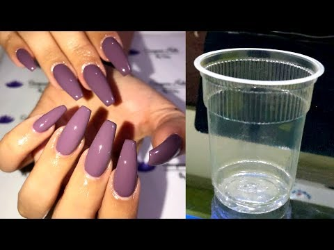 DIY FAKE NAILS FROM PlASTIC GLASS - EASY, QUICK & CHEAP (NO ACRYLIC)