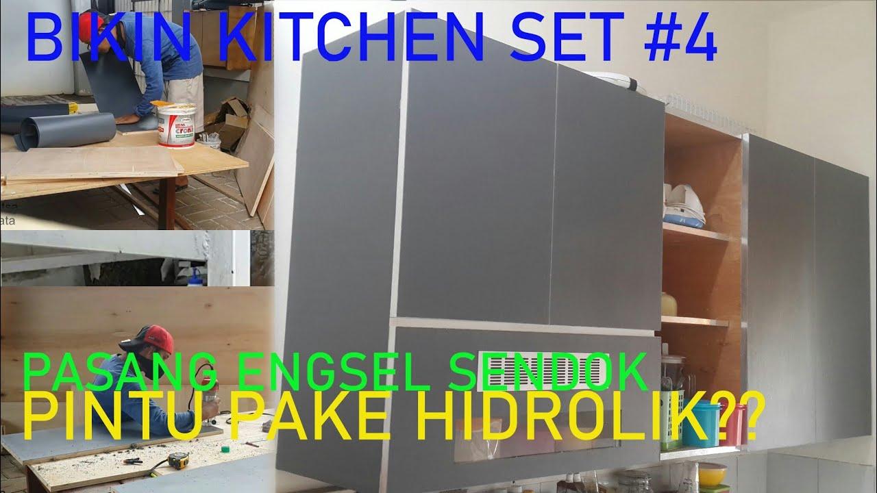 Membuat Kitchen Set Atas Part4 Pemasangan Engsel Sendok