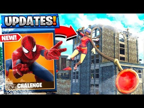 NEW SPIDERMAN CHALLENGE in FORTNITE BATTLE ROYALE!