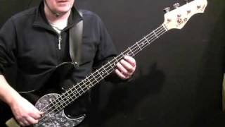 How To Play Bass Guitar To Exodus - Bob Marley - Aston Family Man Barrett