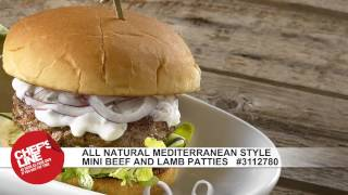 Chef's Line® All Natural Mediterranean Style Mini Beef And Lamb Patties