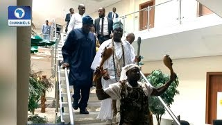 Ooni Of Ife Visits State House Again, Meets Osinbajo