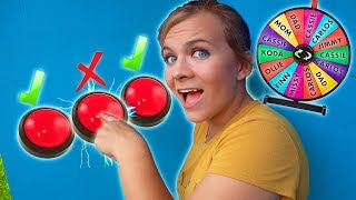 DONT Push the WRONG Mystery Button!! (TRAP DOOR Mystery Wheel CHALLENGE!)