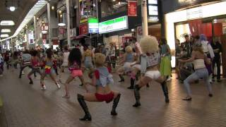 reggae disco jamdung in よさこい祭パレード 神戸元町商店街
