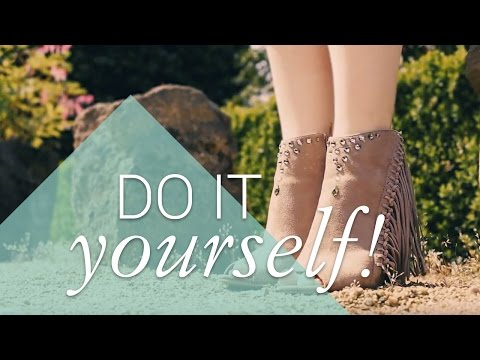 Shoes DIY – Western boots with Swarovski Crystals