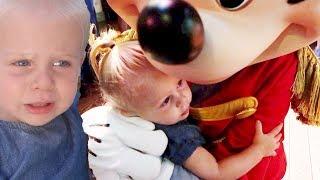 BABY'S FIRST DISNEY RIDE! MICKEY MAKES HER CRY (disneyland vlog)