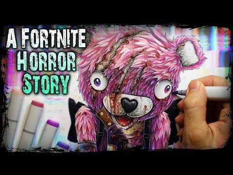 A Horrifying FORTNITE Hacker Encounter - (Horror Story) Creepypasta + Drawing