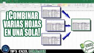 Excel Macro Para Unir Datos De Varias Hojas En Una Sola Youtube