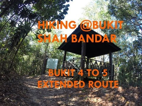 Hiking at Bukit Shah Bandar - Bukit 4 to 5 extended trail