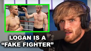 "LOGAN PAUL'S REACTION TO JAKE PAUL CALLING HIM A ""FAKE FIGHTER"""