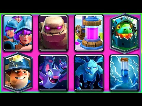 SUPER HEAVY 3 MUSKETEER + GOLEM DECK!! (Clash Royale Nickatnyte)