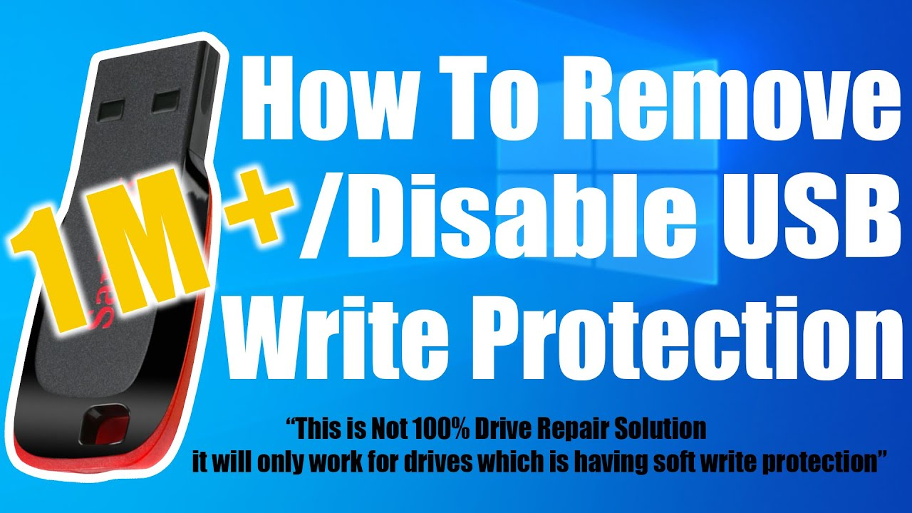 How To Remove / Disable USB Write Protection