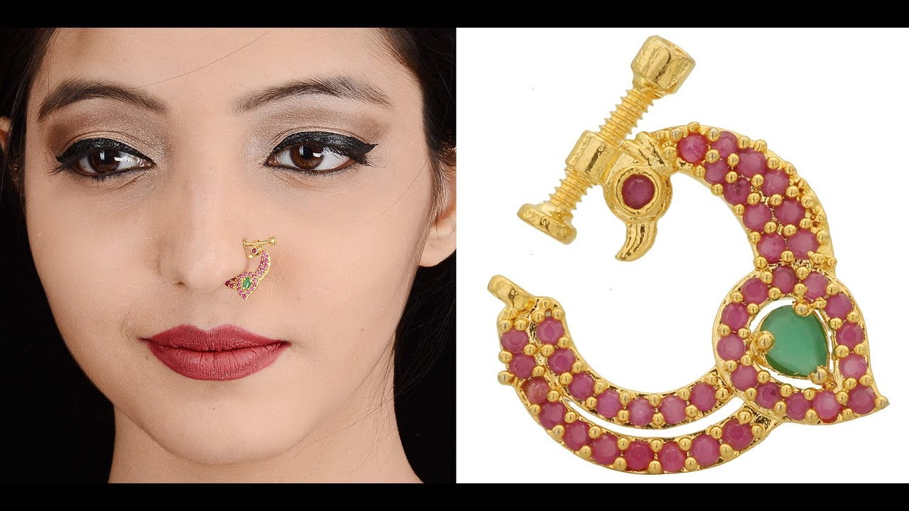 Latest Designer Indian Nose Ring Designs With Price Gold Nose Jewellery Nose Piercing For Women Youtube