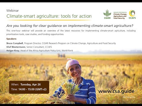 Webinar: Climate-smart agriculture: tools for action