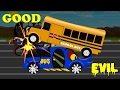 Evil Bus War   Good vs Evil   Scary Street Vehicles   Kids Videos