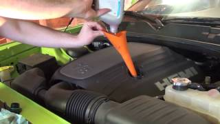 How to change oil on a Dodge Challenger R/T
