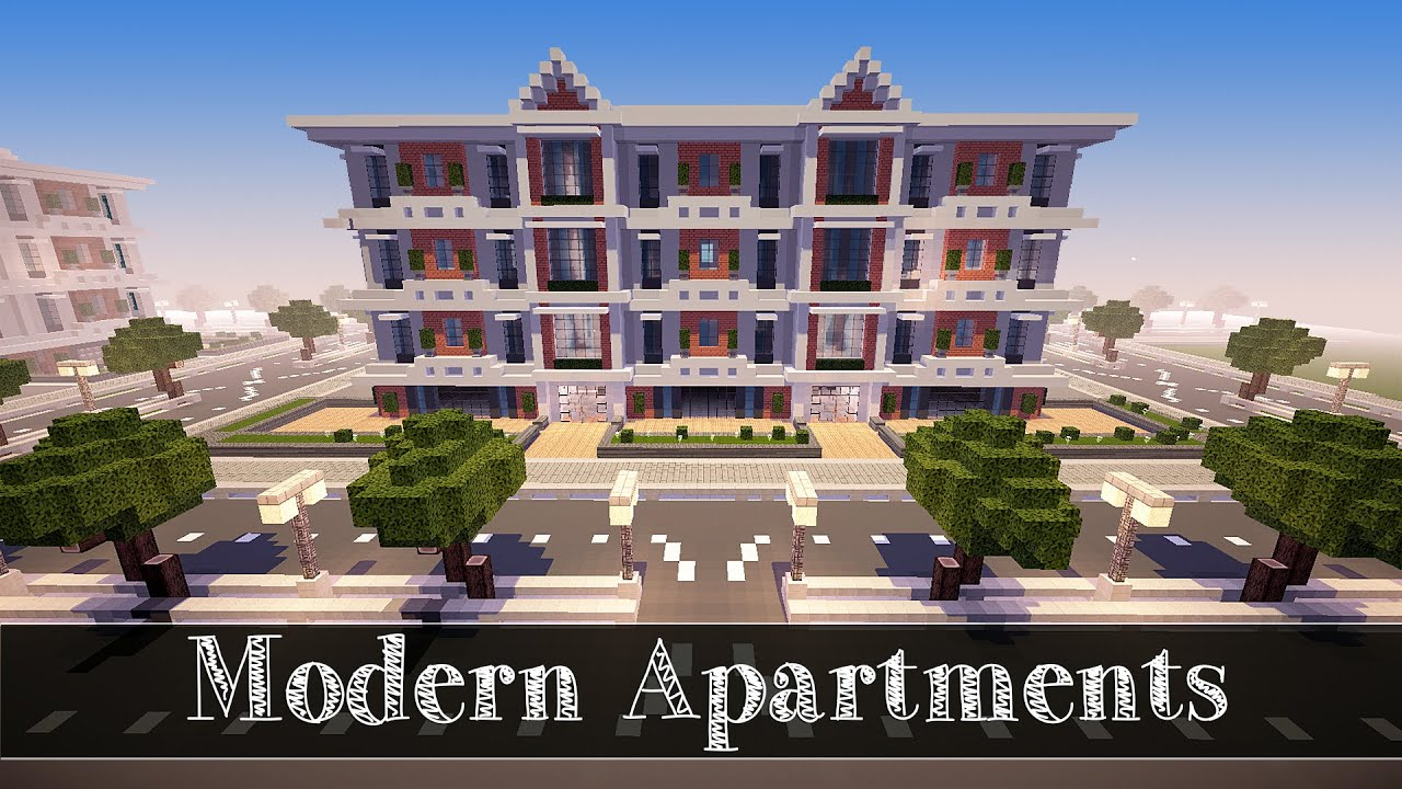 Minecraft lets build modern apartments 2 part 4 youtube for Modern house 8 part 10