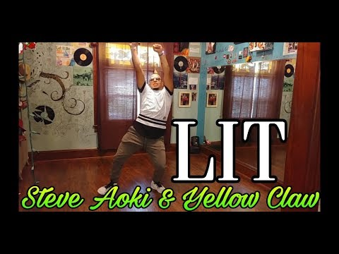 "Steve Aoki & Yellow Claw - ""LIT"" Dance Choreography By CJ Fuentes"