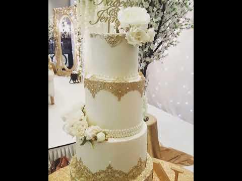 Mehndi Cushion Cake : Elegant wedding cake setup at ramside hall durham youtube