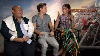 Jacob Batalon & Tom Holland & Zendaya Raw Interview Spider-Man: Far From Home